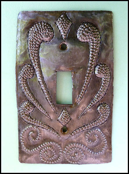 Metal Light Switch Cover  - Switchplate Covers- Recycled Steel Drums in Haiti - Single