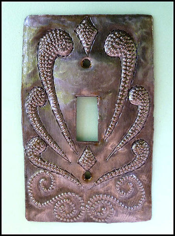 Metal Light Switch Cover, Light Switch Cover, Switchplate Covers, Recycled Steel Drum Art of Haiti - Single