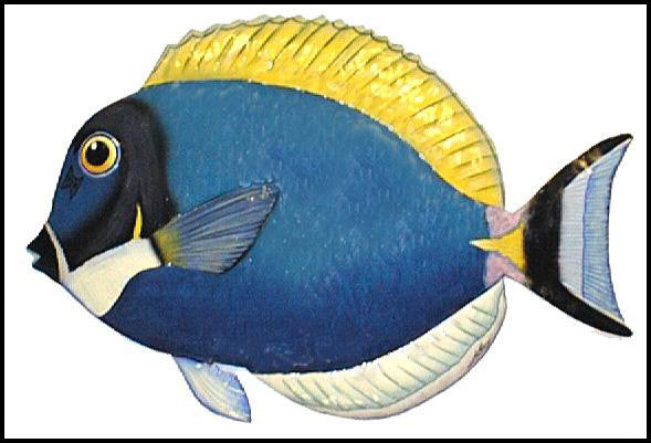 Tropical Fish Wall Hanging - Painted Metal Tropical Fish - Haitian ...