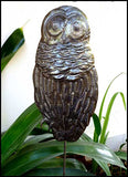 Owl Garden Plant Stake - Metal Outdoor Garden Decor - Haitian Recycled Steel Drum