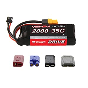 VENOM 35C 2S 2000MAH 7.4V LIPO BATTERY WITH UNIVERSAL PLUG