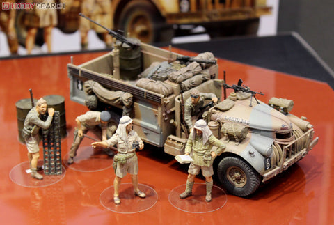 Tamiya 1/35 British LRDG Command Car w/7 Figures
