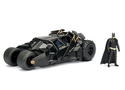 Metals Die Cast Batman y Batimóvil Figura Collecionable