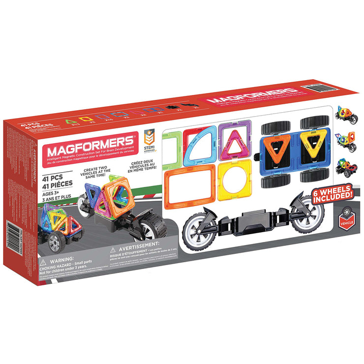 Magformers Amazing Wheels Vehicle Construction Set 41pc 3+