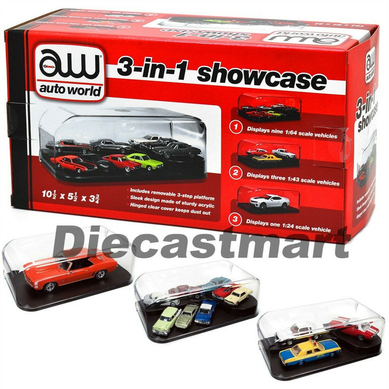 Auto World 1/24 3-in-1 Display Case