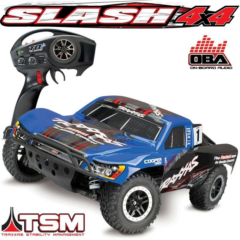 Slash 4x4 RTR RC Truck BLUE BODY w/On-Board Audio OBA