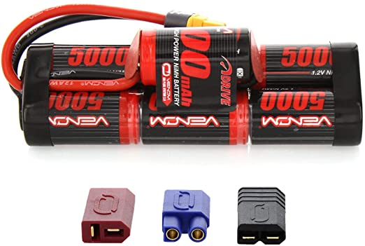 VENOM 1548-7   8.4V 5000MAH 7-CELL HUMP PACK NIMH BATTERY WITH UNIVERSAL PLUG