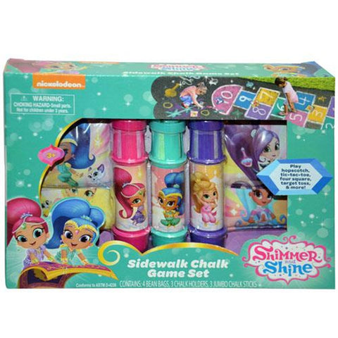 Shimmer & Shine Sidewalk Chalk Game Set