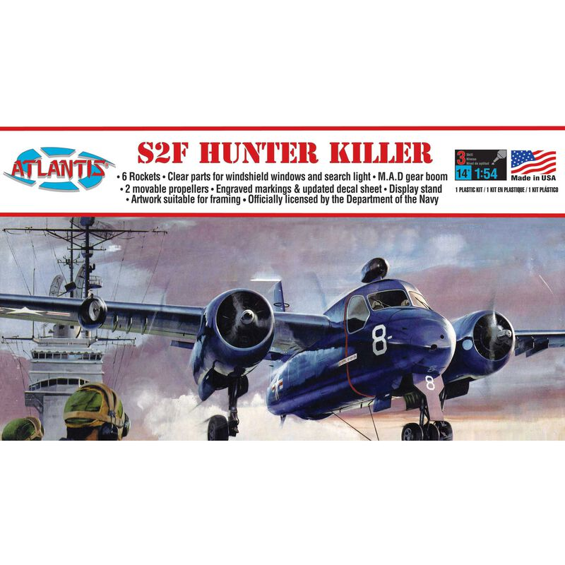 Grumman US NAVY S2F Tracker Hunter/Killer, 1/54
