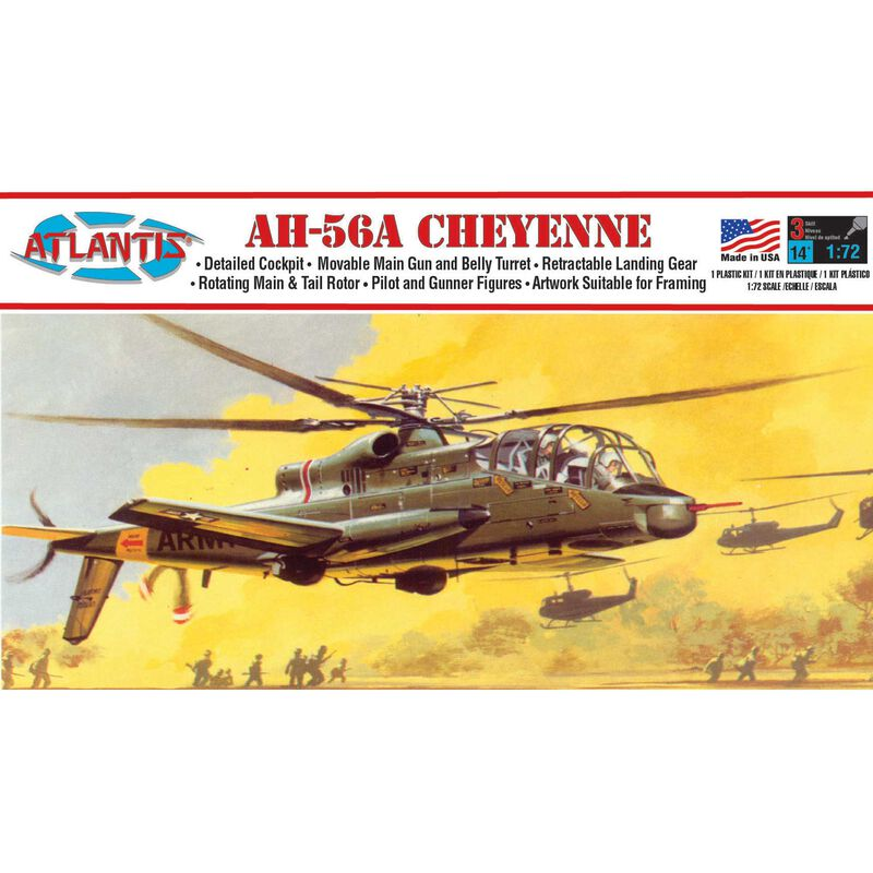 Atlantis AH-56A Cheyenne Helicopter 1/72