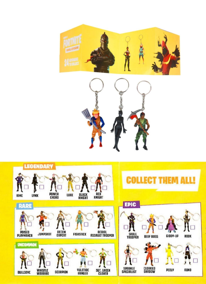 FOR8204 FORTNITE 3D FIGURAL KEYCHANS