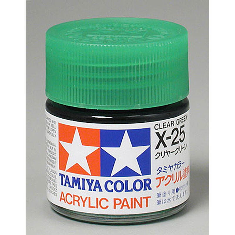 TAMIYA ACRYLIC X25 CLEAR GREEN 3/4 OZ