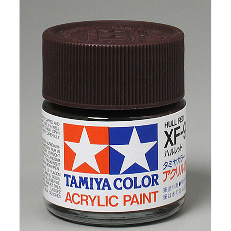 TAMIYA ACRYLIC XF-9 HULL RED 3/4 OZ