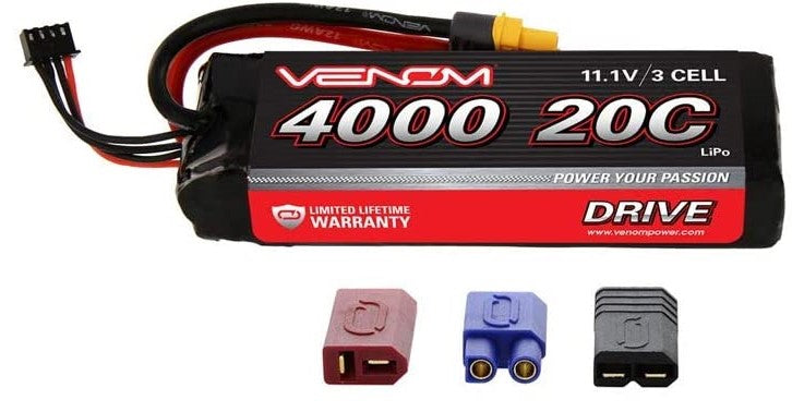 Venom 20C 3S 4000mAh 11.1 LiPO Battery