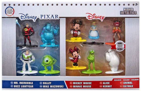 Metals Die Cast: Nano Metal Figs Personajes de Disney Figuras Collecionables