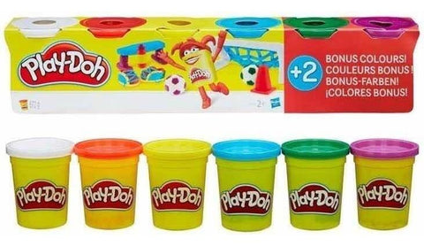 Play-Doh Value Pack: Colores Primarios y 2 Colores Bonus