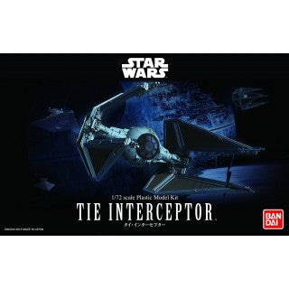 Bandai Hobby Star Wars TIE INTERCEPTOR Plastic Model Kit (Scale 1/72)
