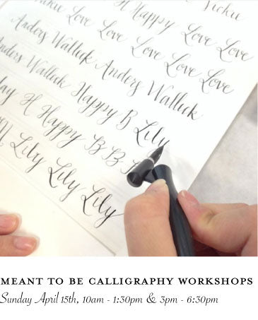 Meant To Be Calligraphy Workshops