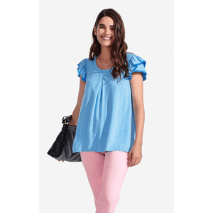Solid Clare Top in Boy Blue