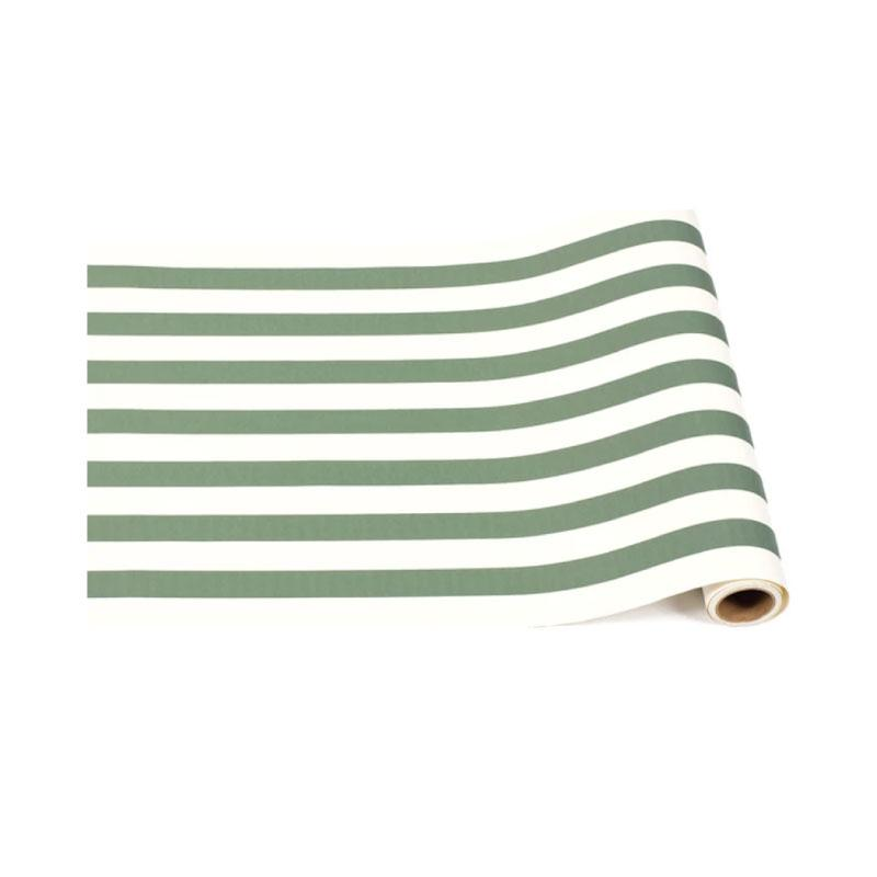Dark Green Paper Table Runner