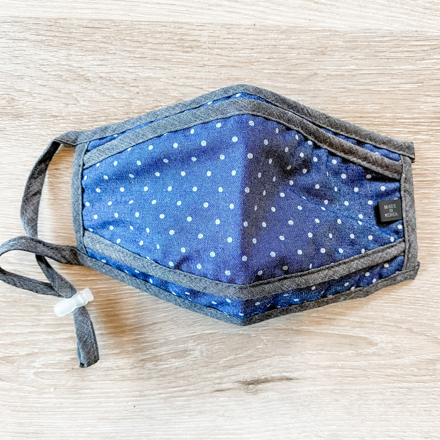 Indigo Dot Face Mask