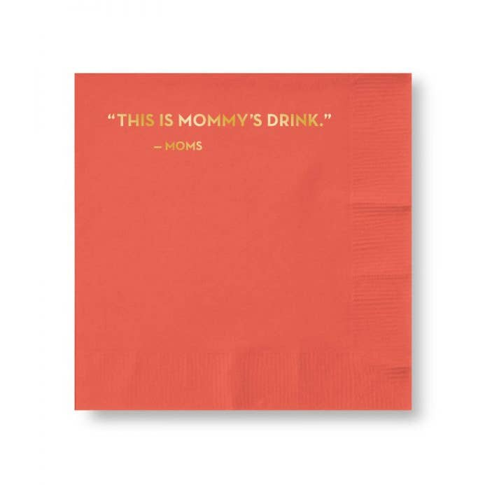 Mommy's Drink Cocktail Napkin