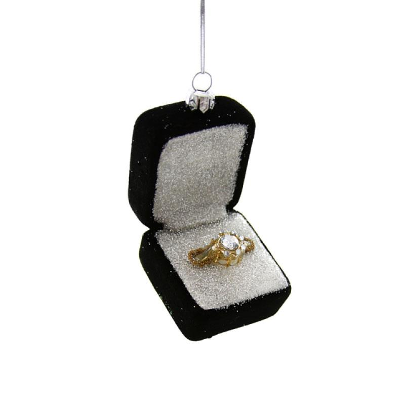 Engagement Ring in Box Ornament