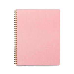 Notebook - Pink, Ruled - Becket Hitch