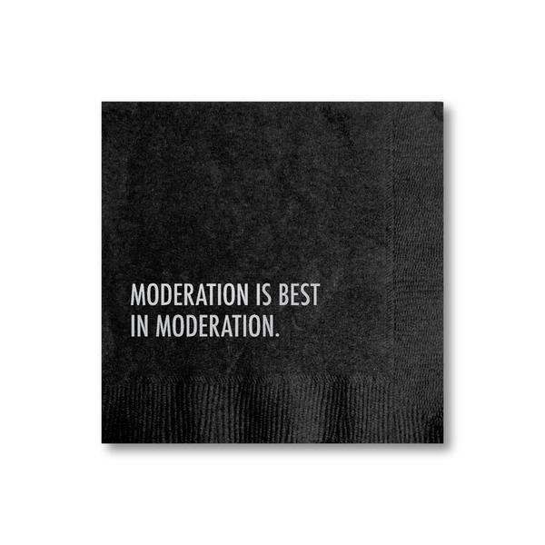 Moderation Cocktail Napkin - Becket Hitch