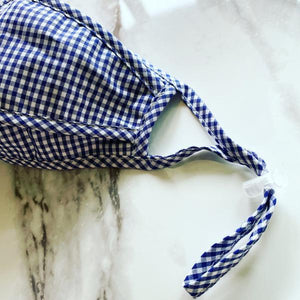 Blue Gingham Face Mask - Becket Hitch