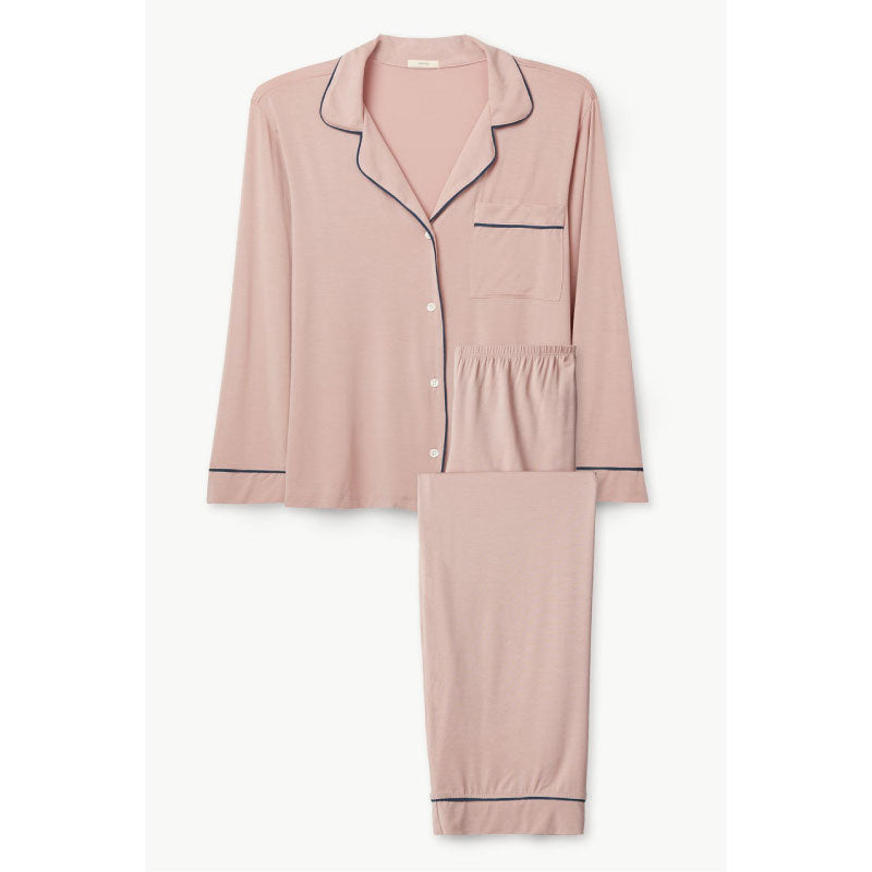 Gisele Long PJ Set in Artisanal Pink + Indigo