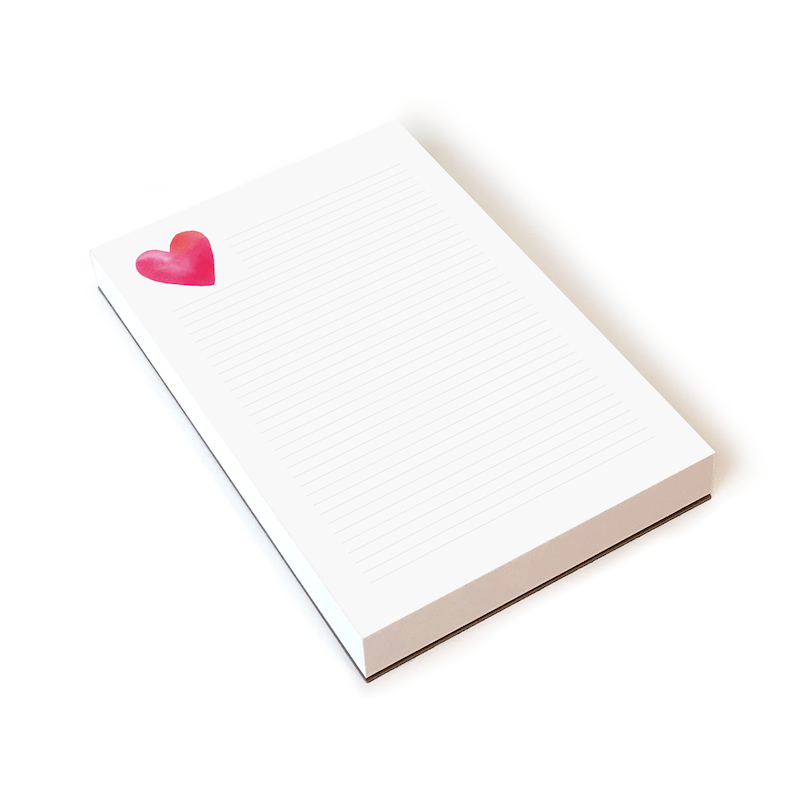 Heart Notepad