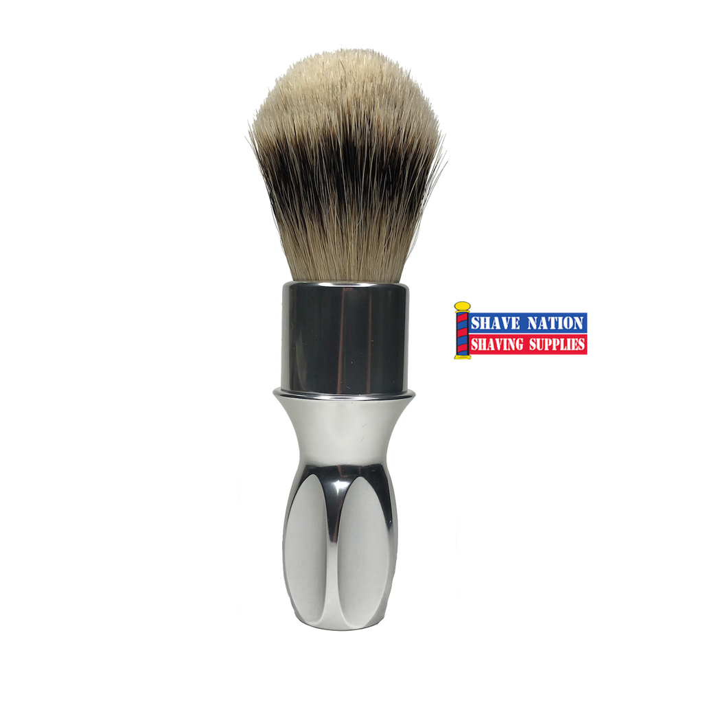 Alpha T400 Rubberset Style Silvertip Badger Brush