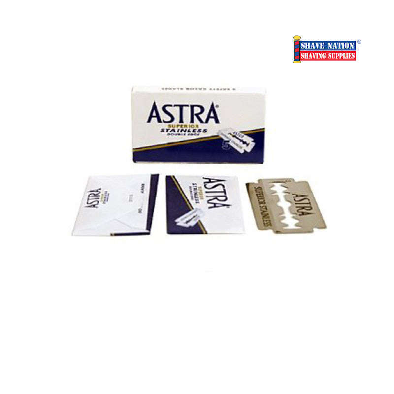 Astra Superior Stainless DE Blades 5 Pack (Blue)