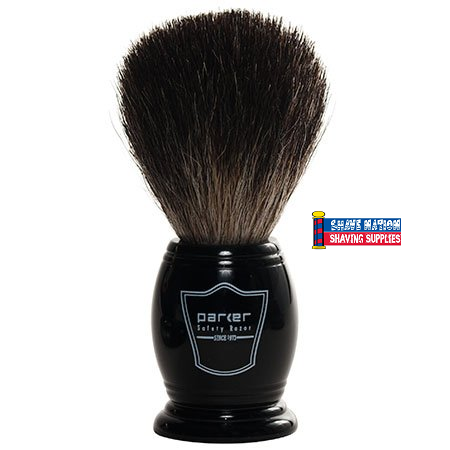 Parker Black Badger Brush Black Handle