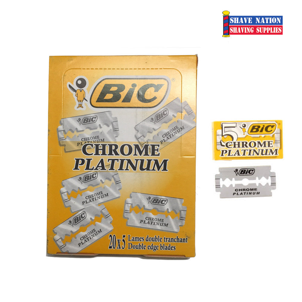 Bic Chrome Platinum DE Blades 100ct (Greece)