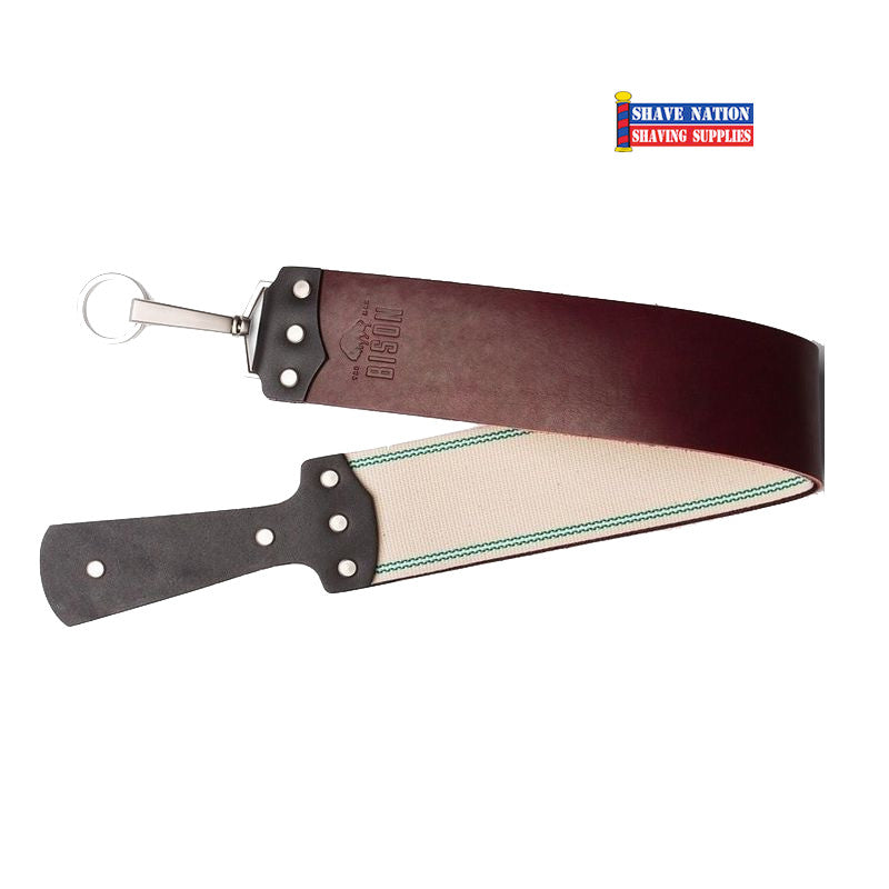 "Bison USA 2-1/2"" Red Latigo Straight Razor Strop"