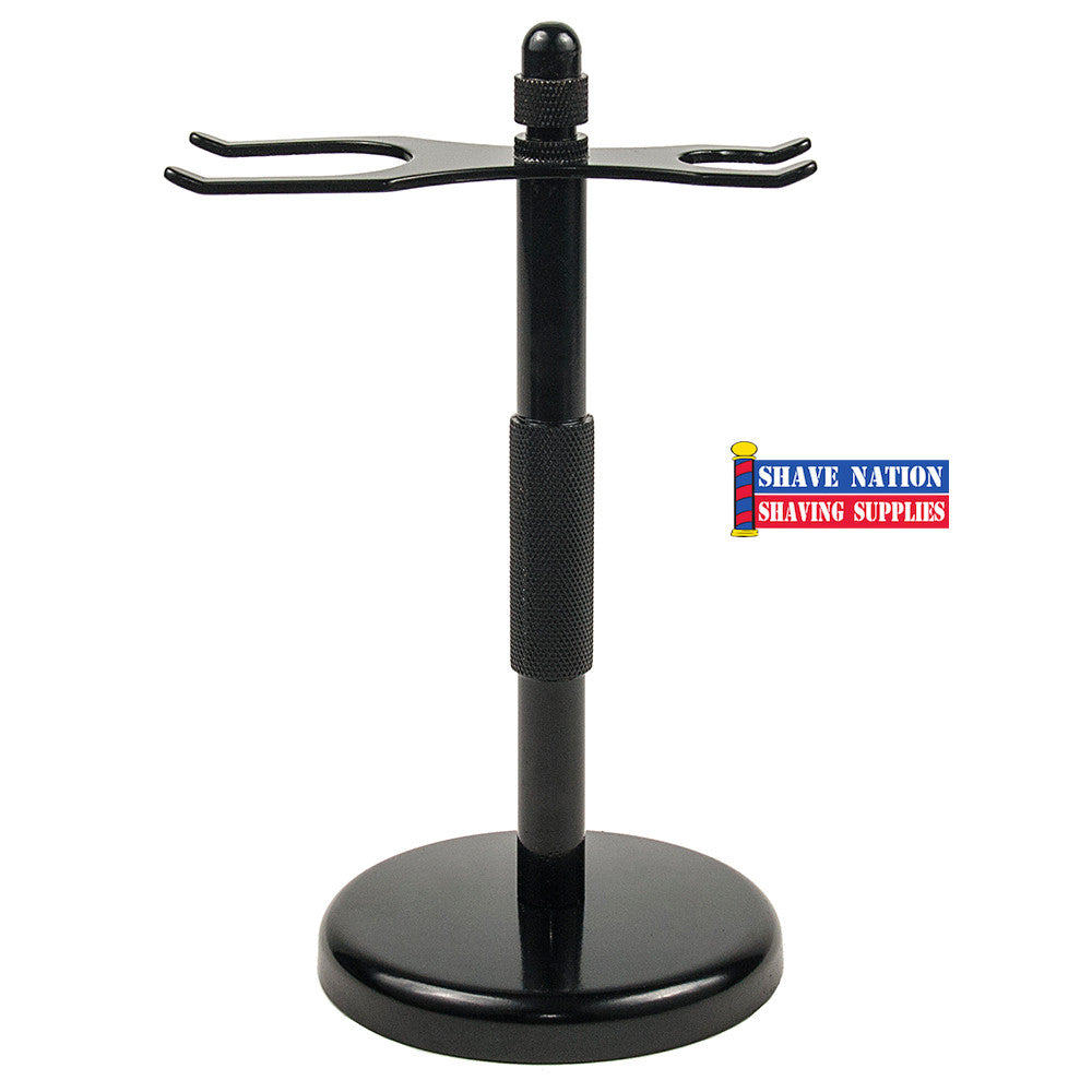 Parker Black Razor & Brush Shaving Stand