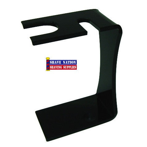 Colonel Conk Razor & Brush Stand-Black Acrylic