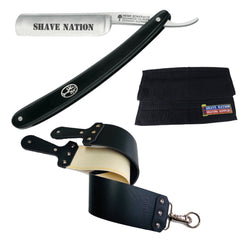 """BLACKOUT"" Straight Razor Set"