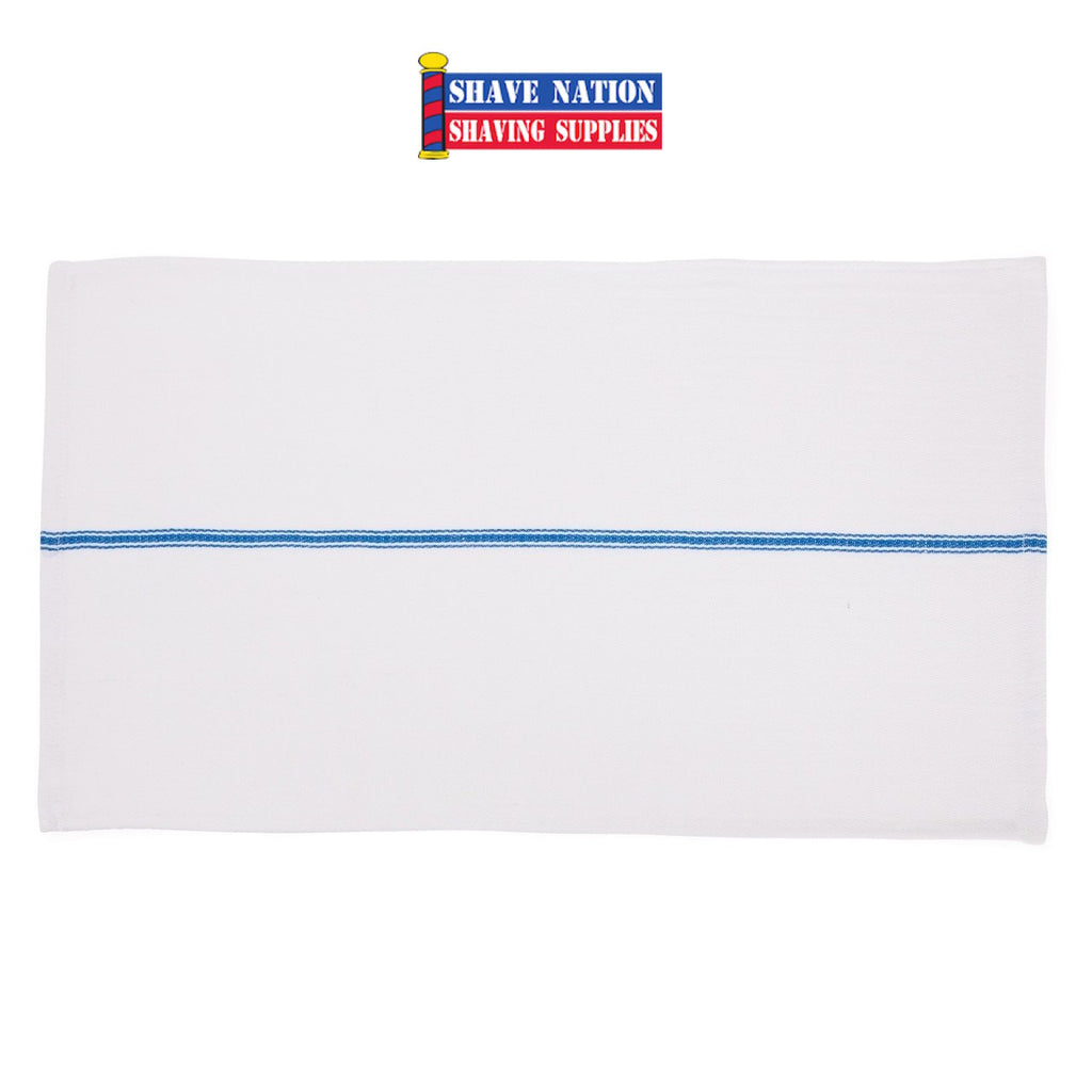 Blue Stripe Barber Towel