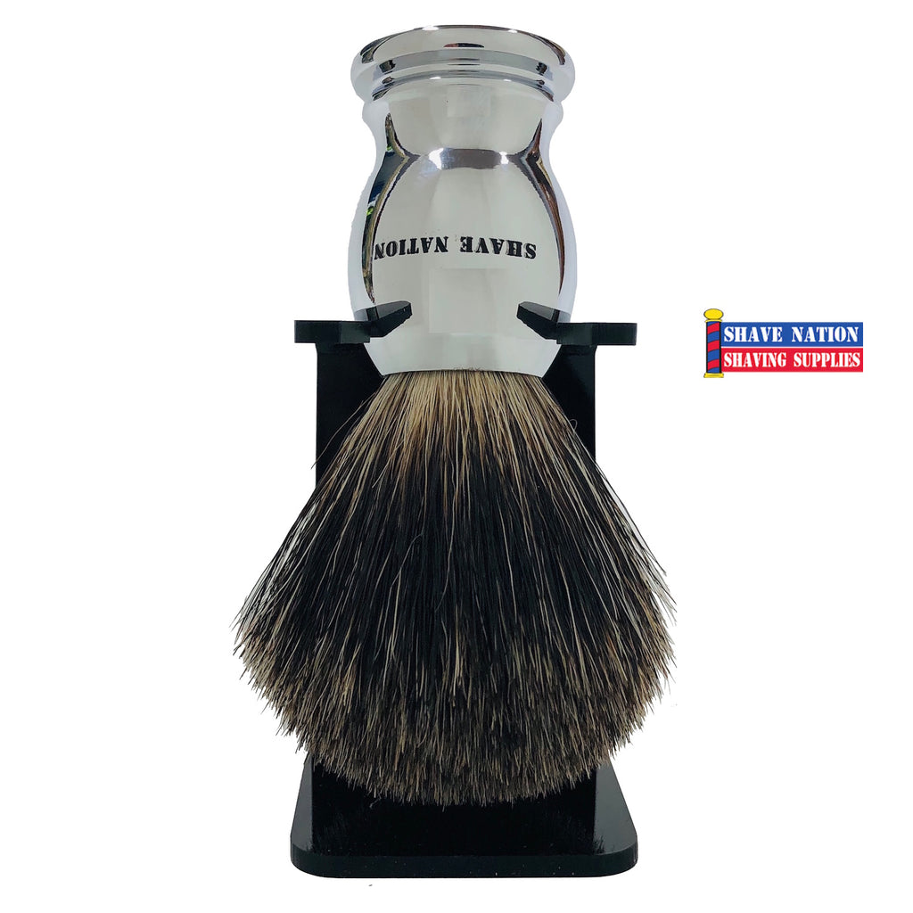 Shave Nation Chrome Handle Mixed Badger Brush