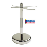 Colonel Conk Chrome Razor & Brush Stand