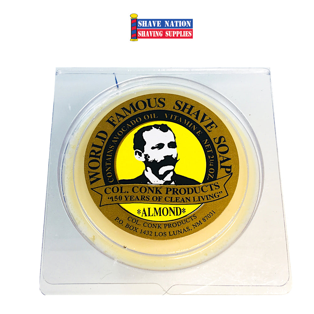 Colonel Conk Shaving Soap Almond Small