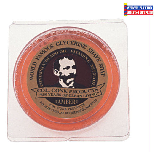 Colonel Conk Shaving Soap Amber Small