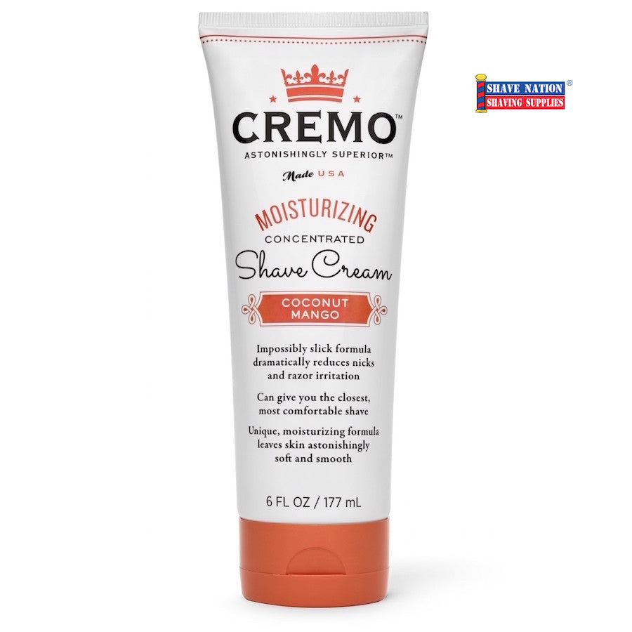 Cremo Coconut Mango Shave Cream 6oz Tube