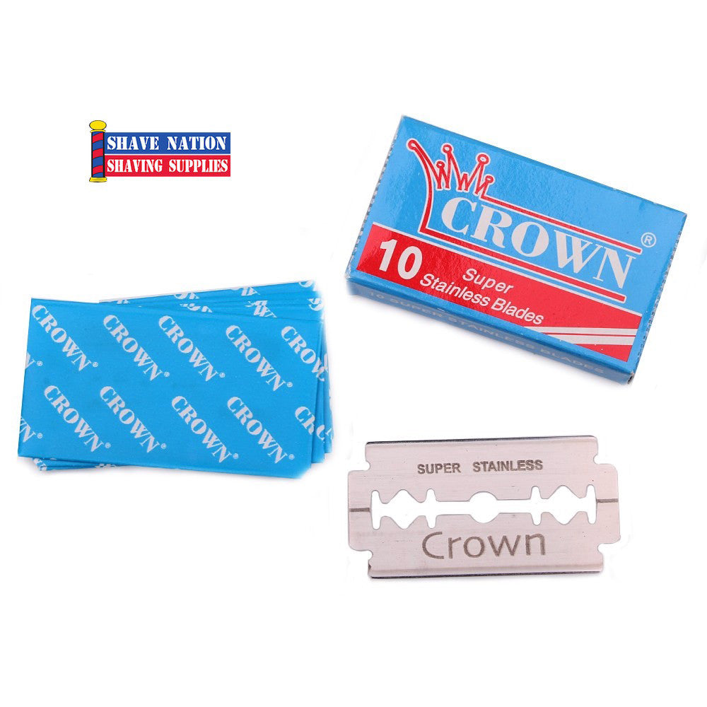 Crown Super Stainless DE Blades 10 Pk.