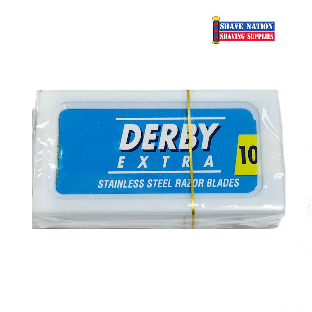 Derby Extra Stainless Steel DE Blades 5 PK-Blue