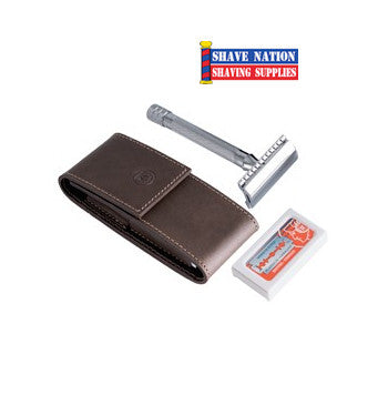 Merkur 23C Safety Razor Travel Set