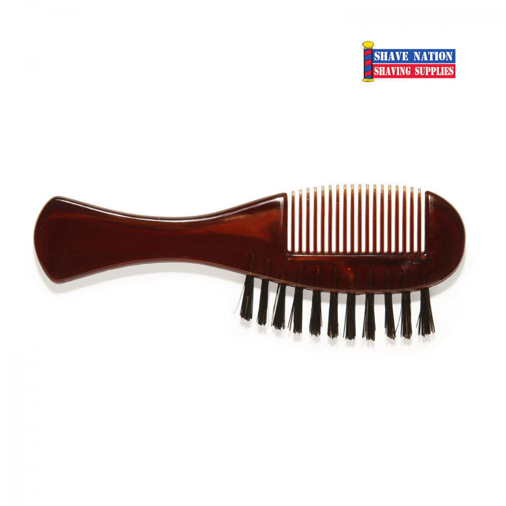 dovo beard brush and moustache comb shave nation shaving supplies. Black Bedroom Furniture Sets. Home Design Ideas